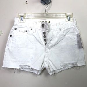 Free People (We The Free) white distressed shorts